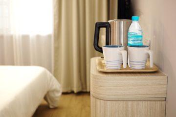 agua para los huéspedes de los hoteles